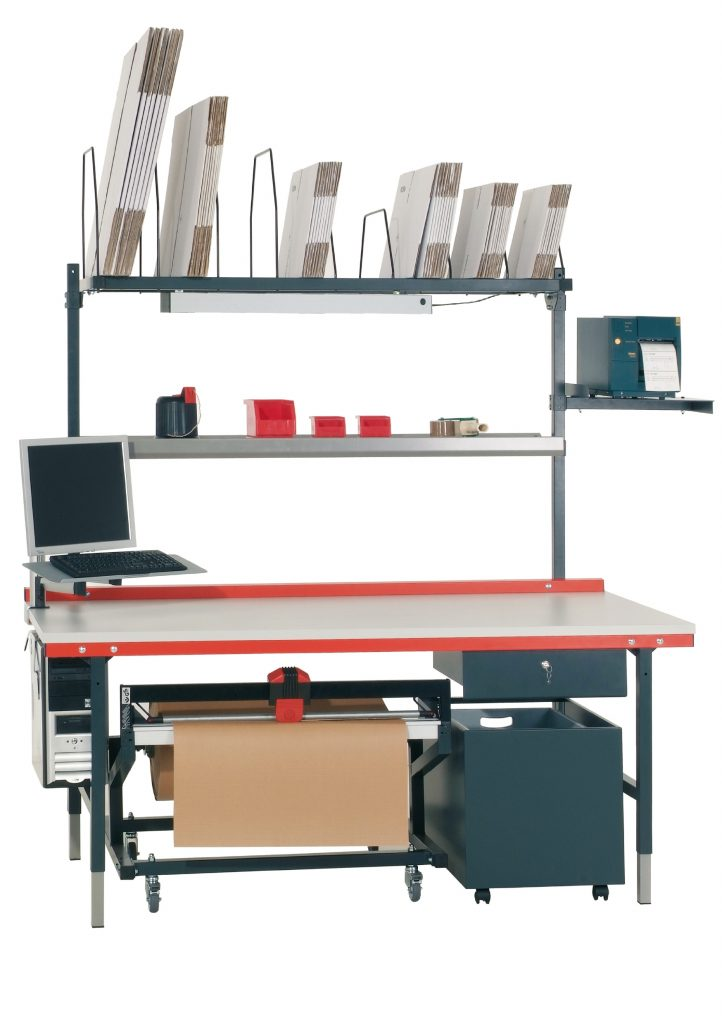 Büro Lager Arbeitstisch Tisch Arbeitsplatte Schublade Behälter Schneiden Arbeiten