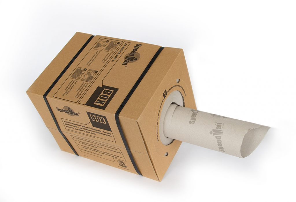 Papierbox Füllmaterial. Polster Polstermaterial Papier Pappe Seidenpapier Verpackung Sprick_SpeedMan