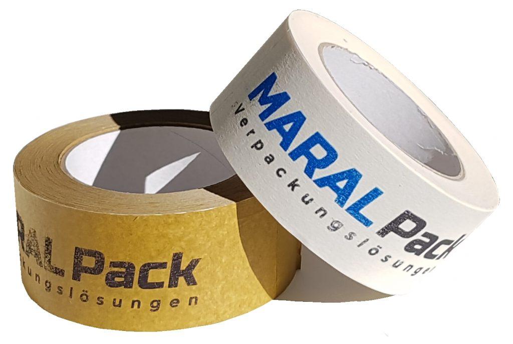 Packband Papier Klebeband bedruckt kaufen farbig Kleben bedrucken Maral Pack Umwelt Umweltschutz Klimaneutral