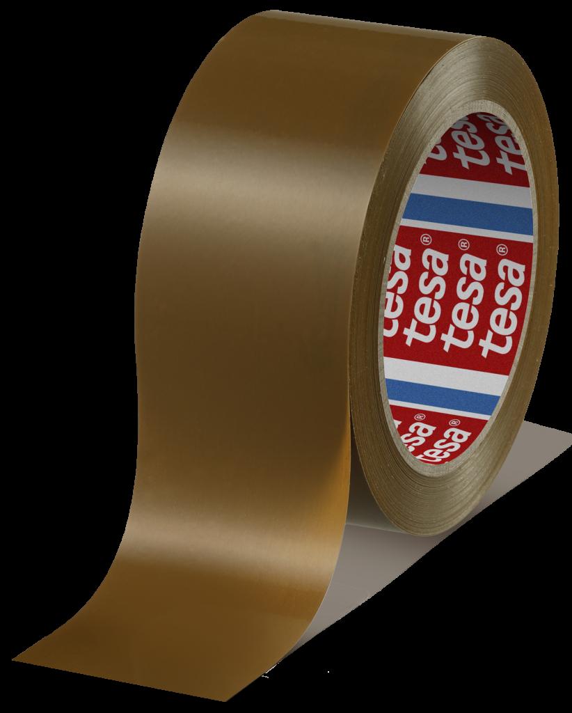 tesa-4124-premium Band Klebeband kleben Folie Packen einpacken zukleben zuschnüren tapen 4120 transparent braun