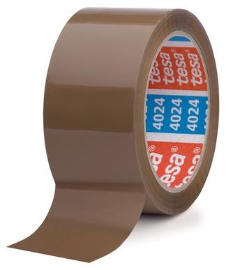 tesa_04024 Band Klebeband kleben Folie Packen einpacken zukleben zuschnüren tapen 4120 transparent braun