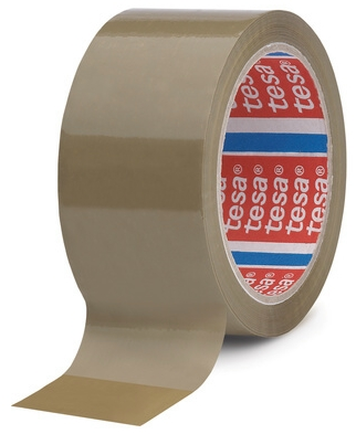 tesa_04089 Band Klebeband kleben Folie Packen einpacken zukleben zuschnüren tapen 4120 transparent braun