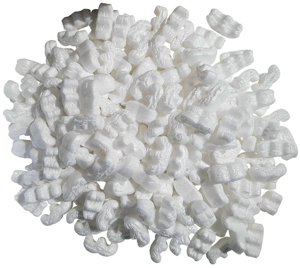 Weisse Polsterchips Schaumchips Polstermaterial Polstern Schützen Schutz