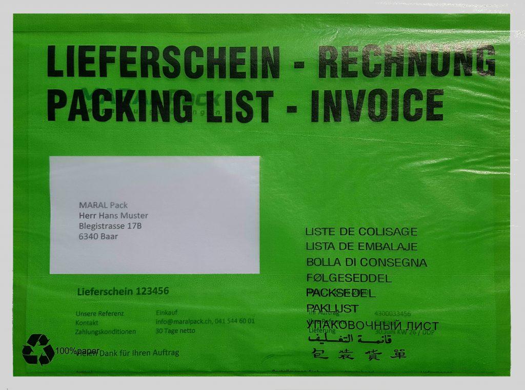 Dokumententaschen Pergamin Papier